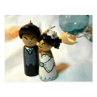 Mariage I de Kokeshi Carte Postale