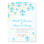 Mariage informel 2 de Fleur de Lis Cascade Carton D'invitation 12,7 Cm X 17,78 Cm
