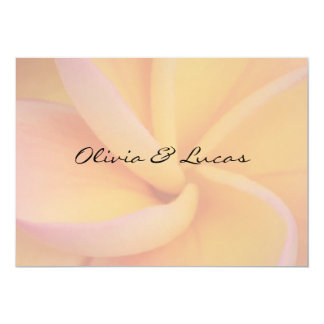 Mariage jaune de Plumeria Carton D'invitation 12,7 Cm X 17,78 Cm