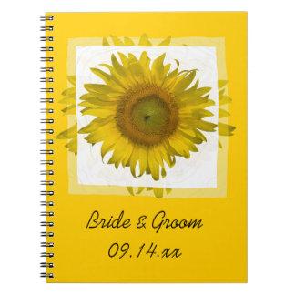Mariage jaune de tournesol carnets