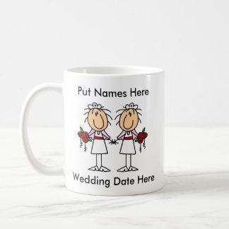 Mariage lesbien à customiser mug