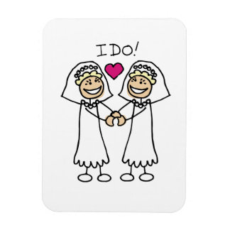 Mariage lesbien nuptiale magnets