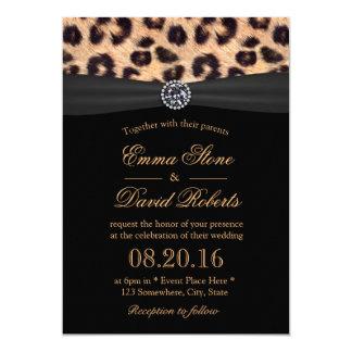 Mariage lumineux chic de diamant et d'empreinte de carton d'invitation  12,7 cm x 17,78 cm