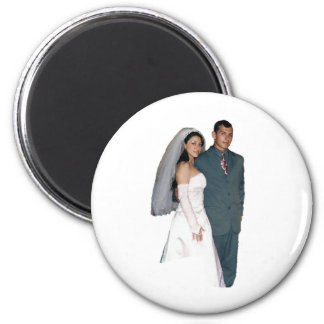 mariage magnet rond 8 cm