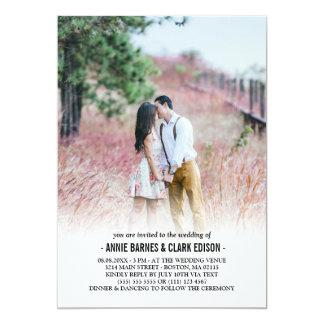 Mariage minimaliste romantique de photo carton d'invitation  12,7 cm x 17,78 cm