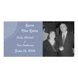 Mariage moderne bleu-clair photocarte personnalisée