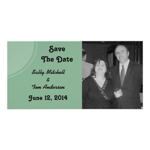Mariage moderne vert clair de cercle photocartes