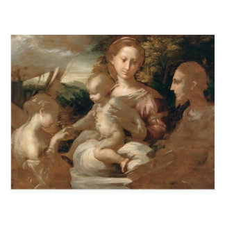 Mariage mystique de Parmigianino- de St Catherine Carte Postale