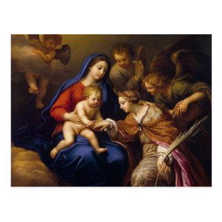 Mariage mystique de St Catherine Carte Postale
