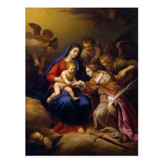 Mariage mystique de St Catherine Cartes Postales