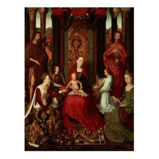 Mariage mystique de St Catherine et d'autres saint Cartes Postales