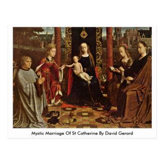 Mariage mystique de St Catherine par David Gerard Cartes Postales