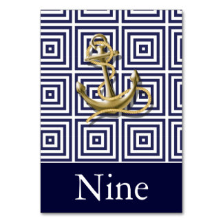 Mariage nautique d'ancre de motif de bleu marine carte