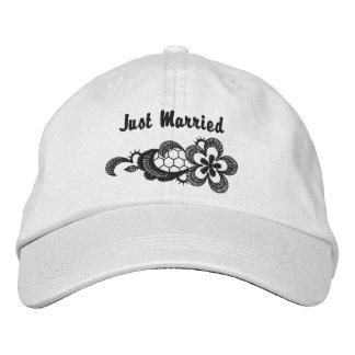 Mariage noir de dentelle - juste casquette marié casquette brodée