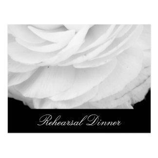 Mariage noir et blanc classique carte postale