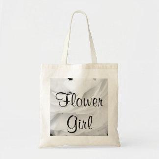 Mariage noir et blanc classique sacs de toile