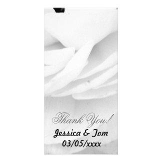 Mariage noir et blanc de rose photocarte personnalisée