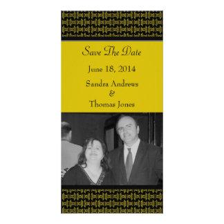 Mariage noir jaune de motif photocartes