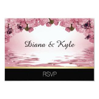 Mariage noir rose unique fait sur commande de carton d'invitation 8,89 cm x 12,70 cm
