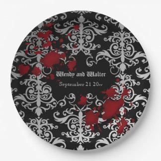 Mariage orienté de Goth Assiettes En Papier