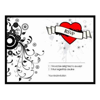 Mariage orienté de musique sale de coeur de roche carte postale