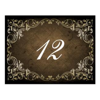 Mariage ornemental majestueux rustique de Brown et Carte Postale