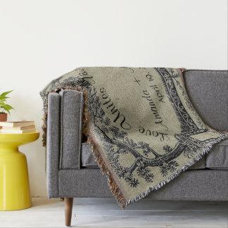 Mariage personnalisé par cadre français antique couvre pied de lit