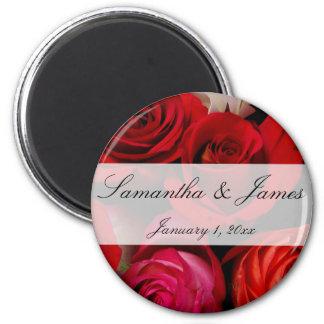 Mariage personnel de bouquet de rose rouge aimant