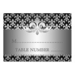 Mariage Placecards Fleur De Lis Black Carte De Visite Grand Format