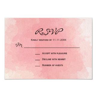 Mariage pour aquarelle de l'aquarelle rose faite carton d'invitation 8,89 cm x 12,70 cm