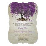 Mariage romantique d'arbre de feuille de Purple He