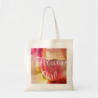 Mariage rose de deux tons sacs en toile