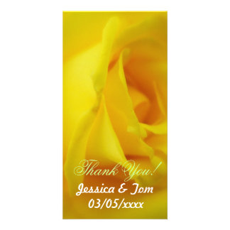 Mariage rose rougeoyant de jaune lumineux cartes avec photo