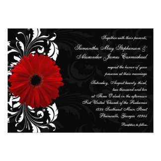 Mariage rouge et noir et blanc de marguerite de Ge