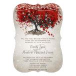 Mariage rouge rustique d'arbre de feuille de coeur