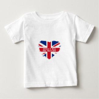 Mariage royal - Kate et William T-shirt Pour Bébé