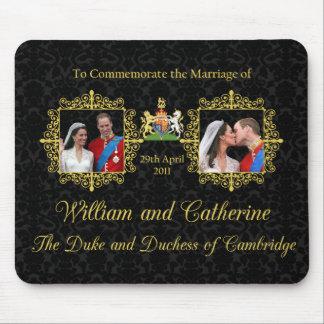 Mariage royal le duc et la duchesse de Cambridge Tapis De Souris