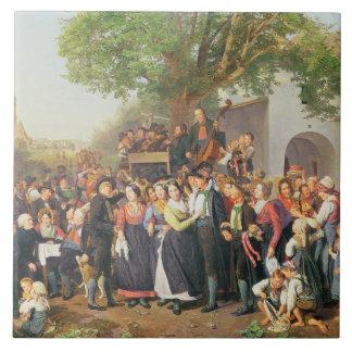Mariage rural en Basse Autriche (huile sur la toil Grand Carreau Carré