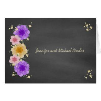 Mariage rustique de tableau floral cartes