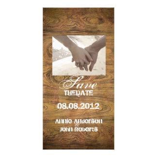 Mariage rustique en bois de cowboy de pays de photocarte