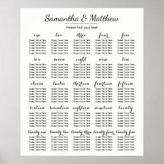 Mariage simple et chic - plus de diagramme de posters