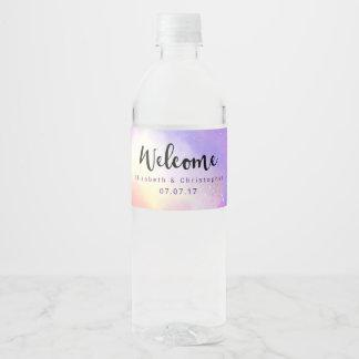 Mariage surréaliste frais d'accueil de conception étiquette pour bouteilles d'eau