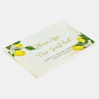 Mariage-TheBarefootBride vintage de citrons Livre D'or