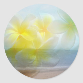Mariage tropical d'asile sticker rond