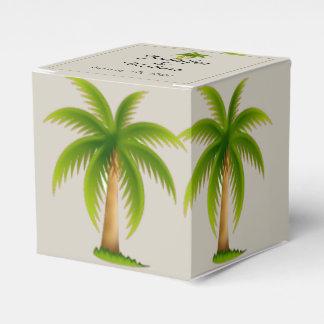 Mariage tropical de palmier ballotins