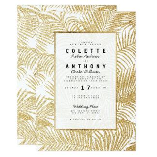 Mariage tropical de palmier de faux de carton d'invitation  12,7 cm x 17,78 cm