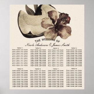 Mariage tropical vintage Seat de noix de coco et Poster