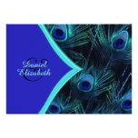 Mariage turquoise élégant de paon de bleu bleu et