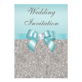 Mariage turquoise imprimé d arc de diamants argent