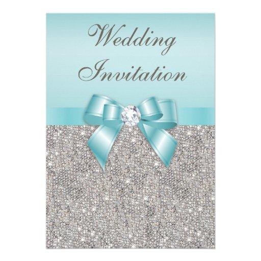 Mariage turquoise imprimé d'arc de diamants bristol personnalisé